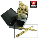 Ridgerock Neiko-10037A 15-pc. Left-Handed Drill Bit Set (1/16 - 1/2 x 1/32 in.) from Hanover Tool
