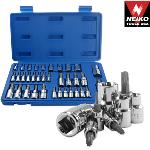 Ridgerock Neiko-10070A 35-pc. Torq Bit and E-Socket Bit Set from Hanover Tool