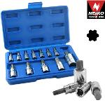 Ridgerock Neiko-10086A 12-pc. Star Plus Bit Socket Set (Inch) from Hanover Tool