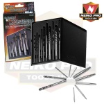Ridgerock Neiko-10136B 10-pc. Industrial USA Index Extractor  and Drill Bit Set from Hanover Tool